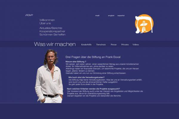 wordpress frank-duval-foundation-jochen-hilmer-designer webdesign rhein-main
