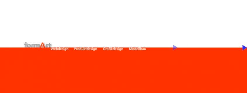 Webdesign Portfolio jh:d formArt 1997