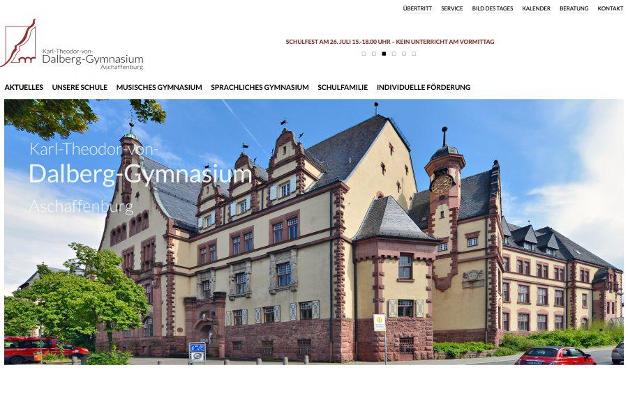 webdesign wordpress schule gymnasium dalberg aschaffenburg jochen hilmer designer