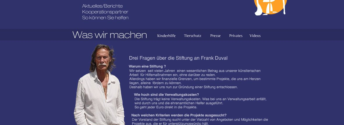 wordpress frank-duval-foundation-jochen-hilmer-designer webdesign rhein-main